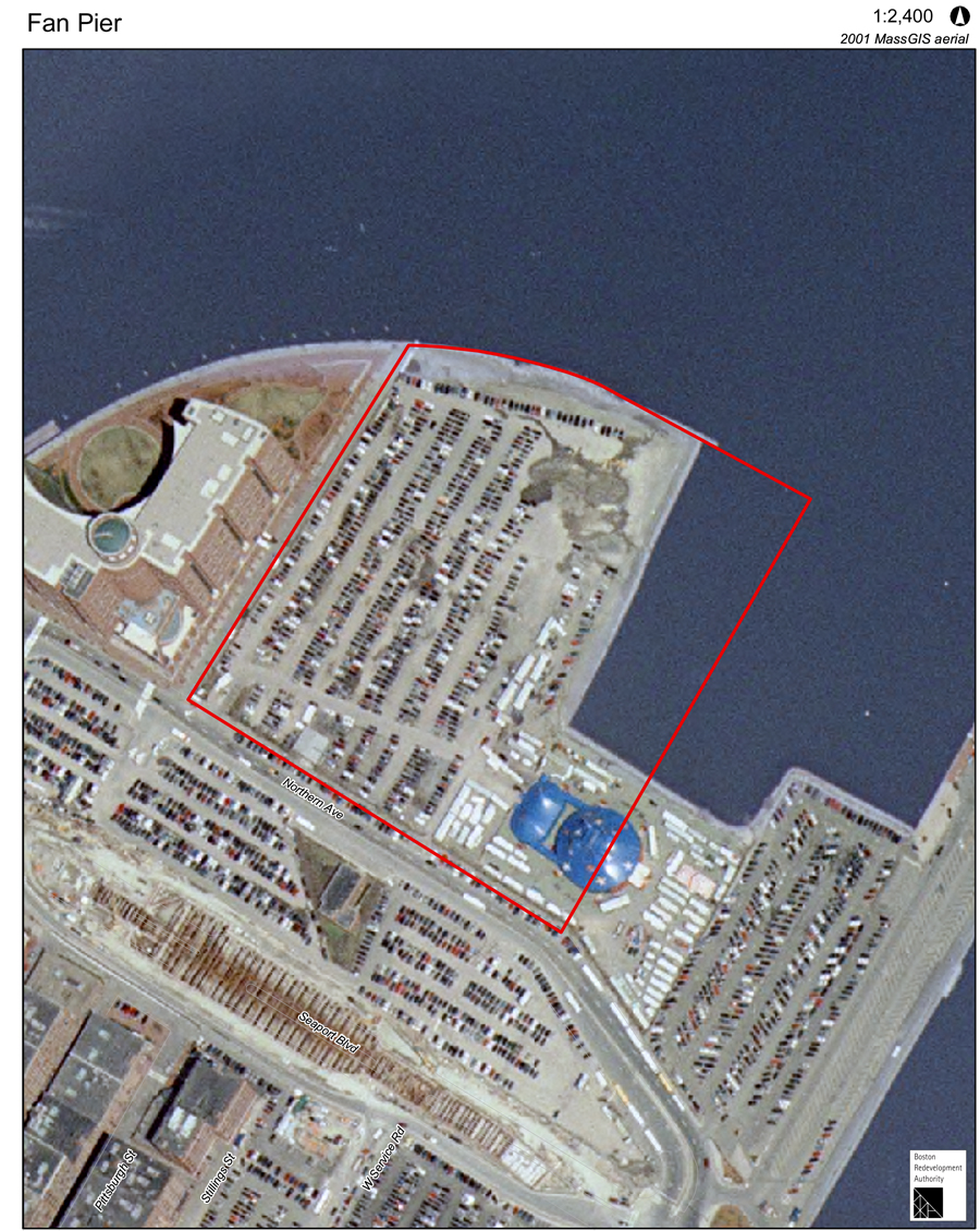 Fan Pier Aerial Photograph 2001 - Boston Redevelopment Authority